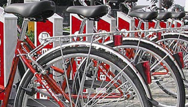 El servicio municipal de alquiler de bicicletas de Pamplona