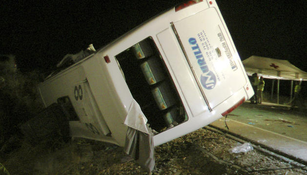 El accidente tuvo lugar poco antes de las nueve y media de la noche