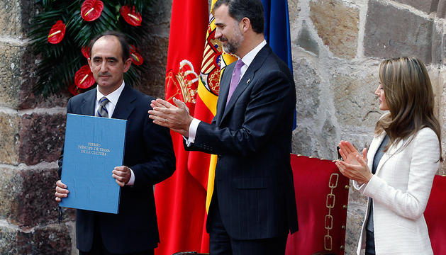 Entrega del Premio Príncipe de Viana de la Cultura a Daniel Innerarity en 2013.
