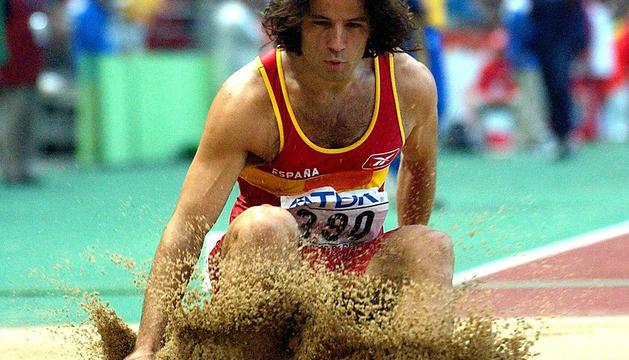 Lamela, en el Mundial de Atletismo Paris 2003