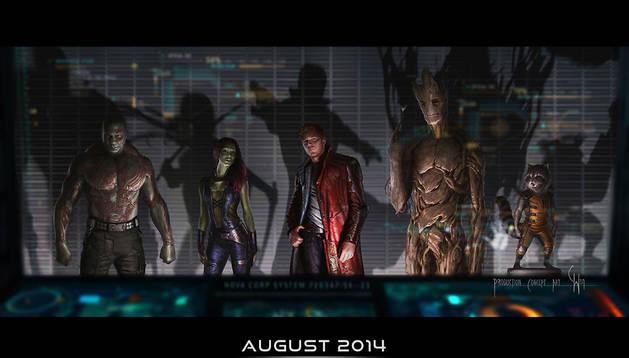 Fotograma de la película de Marvel y Disney 'Los guardianes de la galaxia'