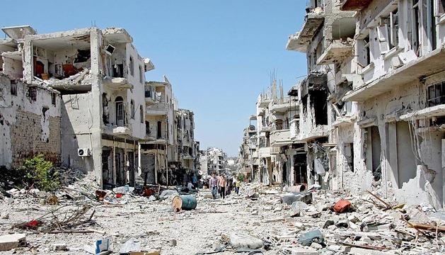Homs, devastada por los enfrentamientos