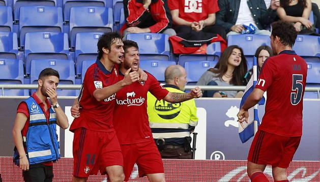 Imágenes del encuentro de la Jornada 37 disputado en Cornellá El Prat entre el RCD Espanyol y el C.A. Osasuna.