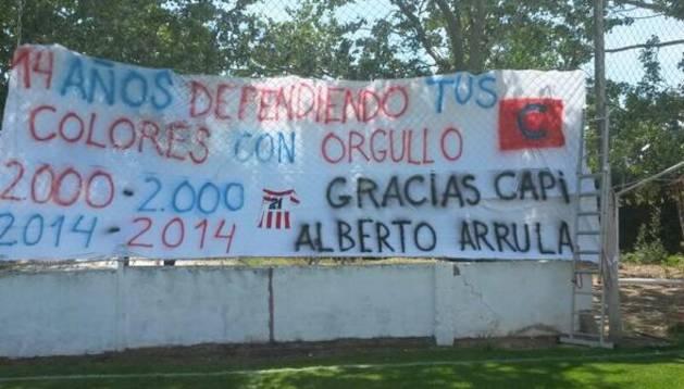 Despedida a Alberto Arrula y Javier García 'Txino' en Artajona