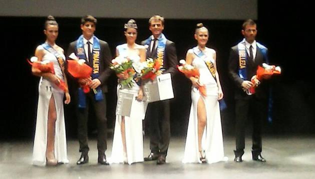 Los ganadores del certamen Rey y Reina de la Belleza 2014.