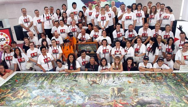 El puzzle más grande del encuentro, con 33.600 piezas