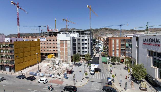 Vista panoramica actual del barrio lorquino de la Viña, uno de los barrios más afectados por los terremotos de Lorca del 11 de mayo de 2011