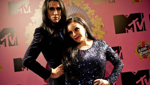 La televisiva pareja, Alaska y Mario Vaquerizo. CEDIDA