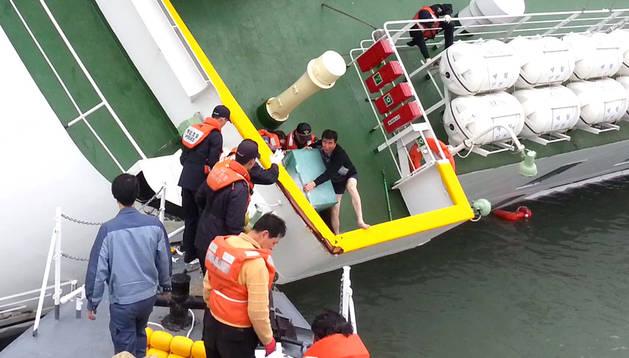 El capitán Lee Joon-seok, al abandonar el barco que se hundía