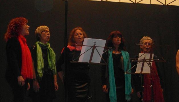 El coro de mujeres Kantirun de Lumbier, en el concierto