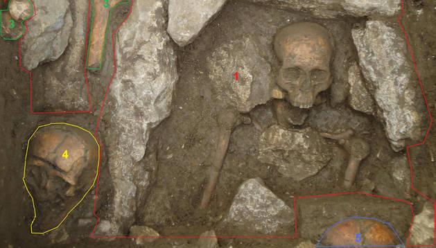Detalle de las excavación practicada en el año 2011 en el solar que alberga el monasterio de Zamarce