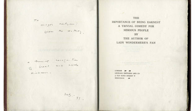 Edición de la obra del irlandés Oscar Wilde