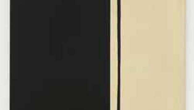 'Black Fire I', del artista Barnett Newman, que fue vendido por 61.440.450 euros.
