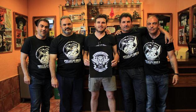 De izda. a dcha.: Javier Calvillo, Juan Cruz Ardaiz, Mikel Huguet, Javier Pérez y Valentín Calvillo