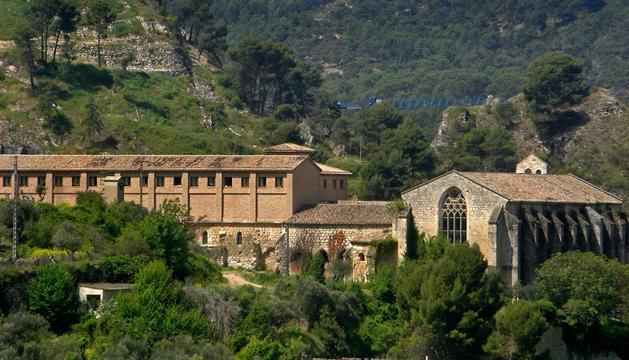 Vista de la residencia de Santo Domingo de Estella