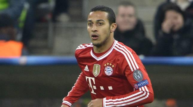 El jugador del Bayern, Thiago Alcántara