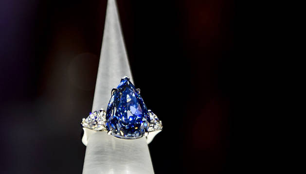 El diamente 'The blue'. AFP