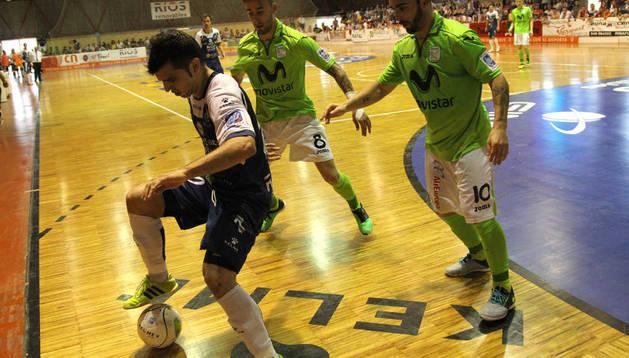 Imagen del primer partido de la eliminatoria