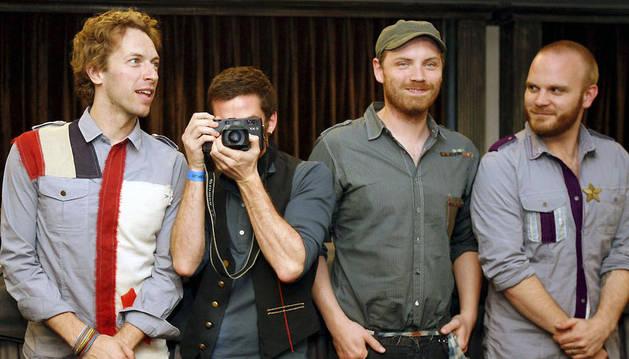 Los integrantes de Coldplay, Chris Martin, Guy Berryman, Jon Buckland y Will Champion, en una imagen de 2008