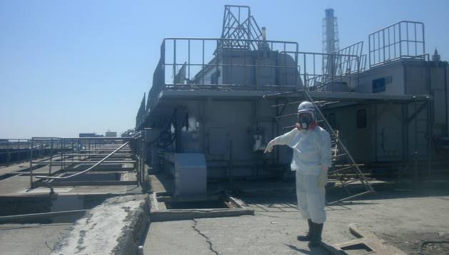 Filtración de agua al mar en Fukushima en 2011. EFE