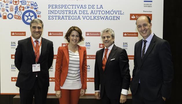 Alfonso Sánchez, Yolanda Barcina, Enrique García Candelas y Alfonso Bañón