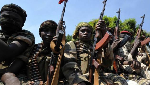 Imagen de archivo de un grupo de jóvenes soldados en Damara.