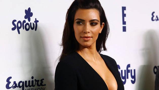 La modelo Kim Kardashian. AFP