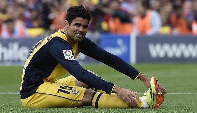 Diego Costa, en el Camp Nou