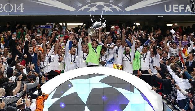 Encuentro de la final de la Champions disputado entre el Real Madid y el Atlético de Madrid en el estadio de la Luz de Lisboa.