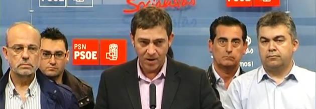 Rueda de prensa de Roberto Jiménez en la sede del PSN