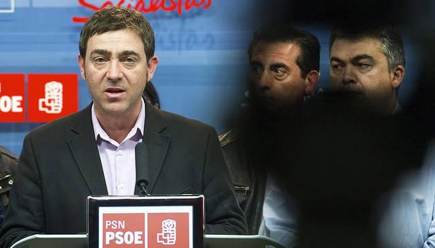 El secretario general del PSN, Roberto Jiménez, durante la rueda de prensa ofrecida