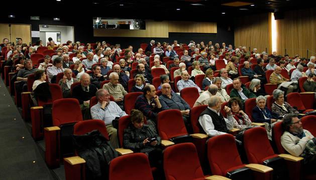 La sala de proyecciones de la Filmoteca de Navarra