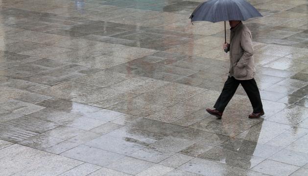 Lluvia en Pamplona.