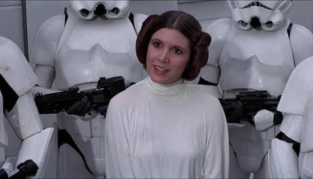 Carrie Fisher como la princesa Leia en la saga 'La guerra de las galaxias'