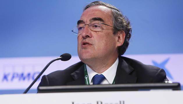 El presidente de la patronal CEOE, Juan Rosell, ha abierto hoy la segunda jornada de la Reunión del Círculo de Economía de Sitges