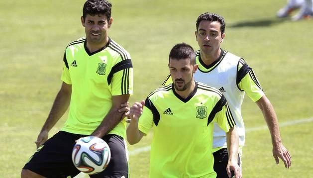 Último entrenamiento de España antes de Washington