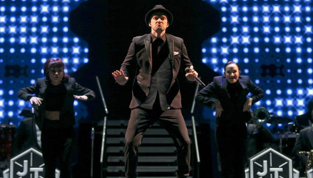 Justin Timberlake durante su actuación en el Rock in Rio Lisboa