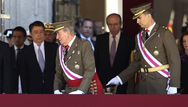 El Rey Juan Carlos y el Príncipe de Asturias, en el Monasterio de San Lorenzo de El Escorial