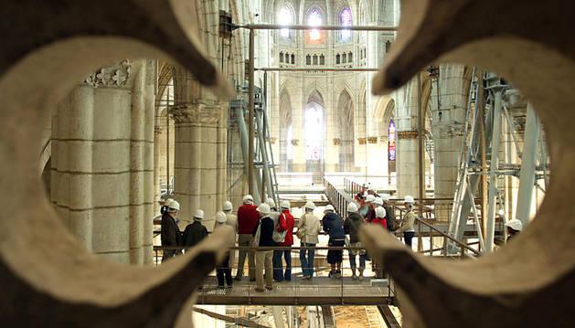 Una visita a la catedral durante su restauración