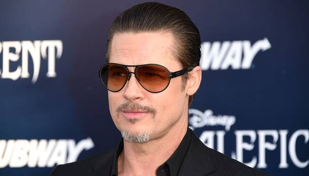 Brad Pitt, en el preestreno de 'Maléfica'