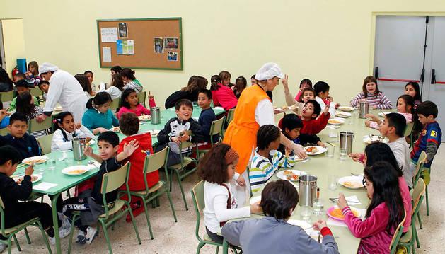 Un comedor escolar en Barañáin