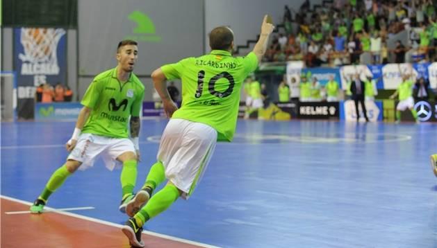 Ricardinho celebra un gol contra ElPozo