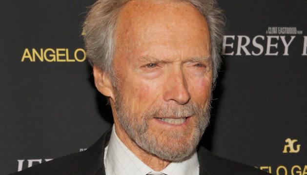 Clint Eastwood en la presentación de 'Jersey Boys' en Nueva York