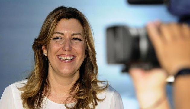 La presidenta de la Junta de Andalucía, Susana Díaz, fotografiada este martes en el Palacio de San Telmo se Sevilla