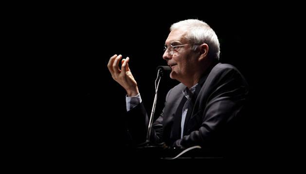 El arquitecto francés Dominique Perrault, autor de la Biblioteca Nacional Mitterrand de París, este miércoles en Pamplona