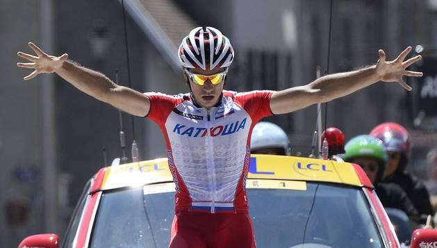 Simon Spilak se impuso en la quinta etapa del Dauphiné