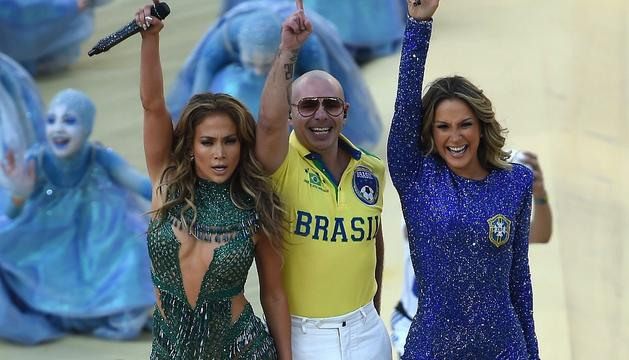 Jennifer López, Pitbull y Claudia Leitte