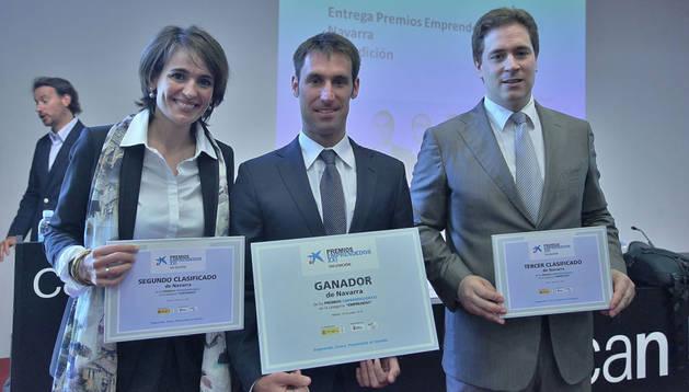 Cristina Latasa, Javier Fernández Huerta y Fermín Cilveti