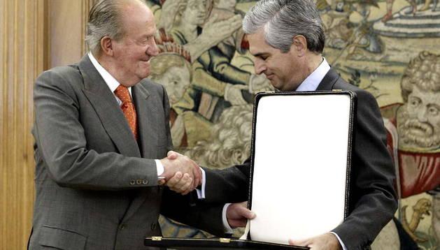 El Rey recibe en audiencia a Adolfo Suárez Illana