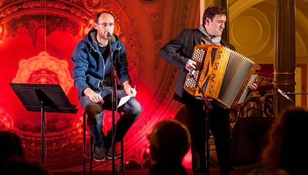 Amets Arzallus y Joxan Goikoetxea en una actuación anterior